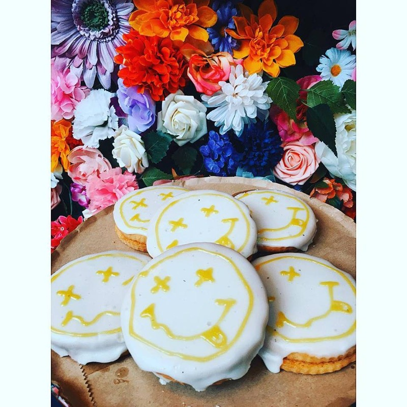 Nirvana themed biscuits at In Bloom cafe - The best places to eat and drink in Glasgow