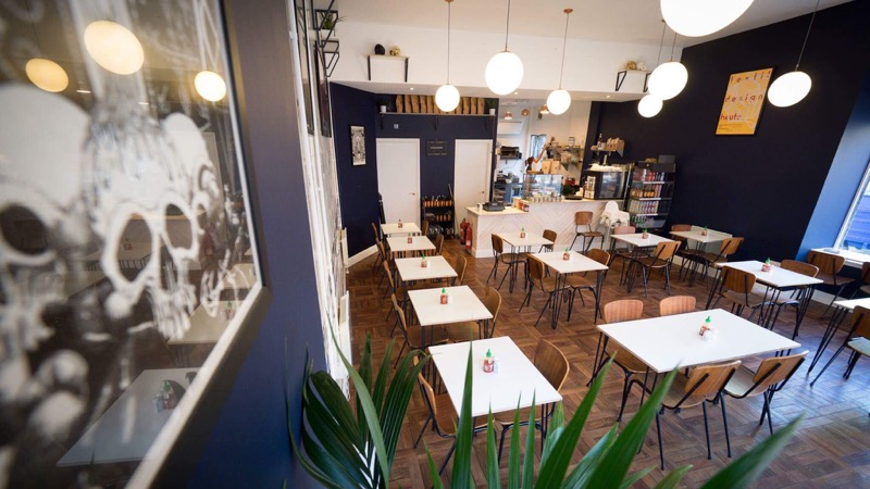 Cafe Strange Brew interior - The best places to eat and drink in Glasgow