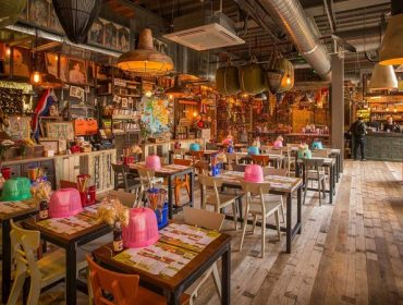 Thai themed interior at Thaikhun - The best places to eat and drink in Glasgow