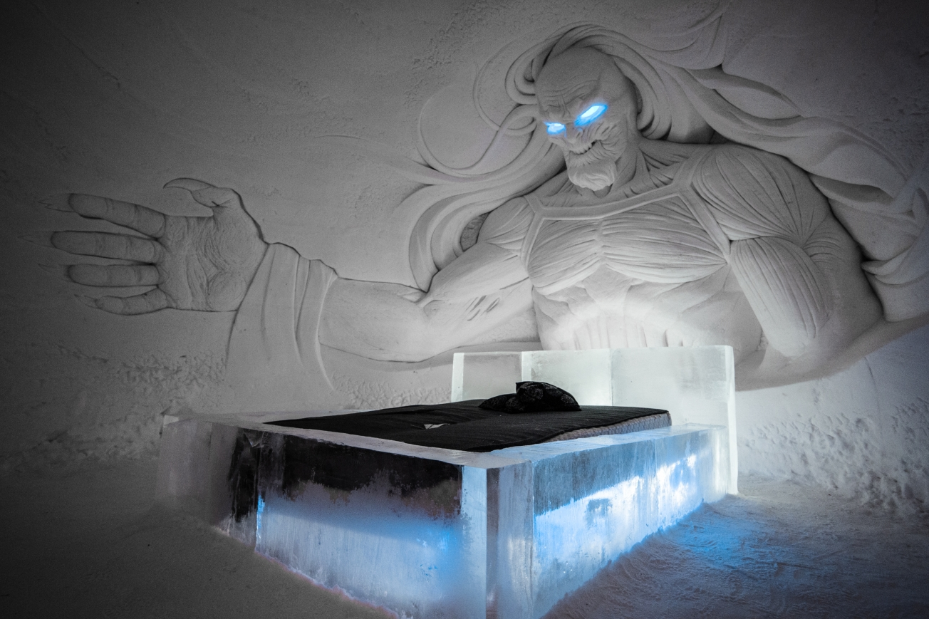 Game of Thrones theme at the SnowVillage - 9 Incredible places to stay in Finnish Lapland