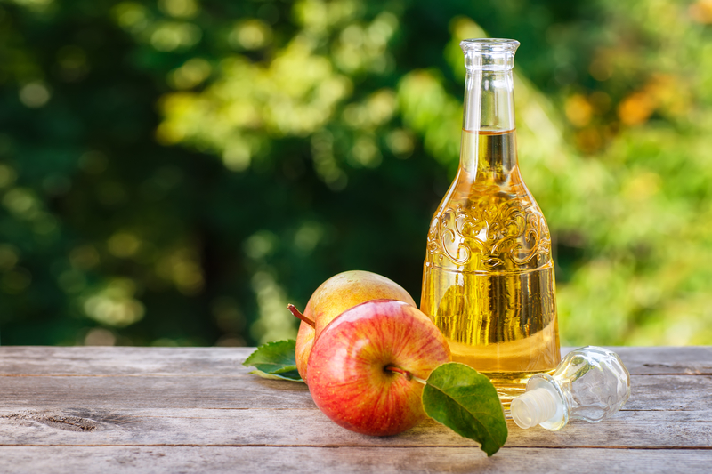 Bottle of apple cider vinegar with apples - 10 Simple Sunburn Hacks to Soothe Your Skin