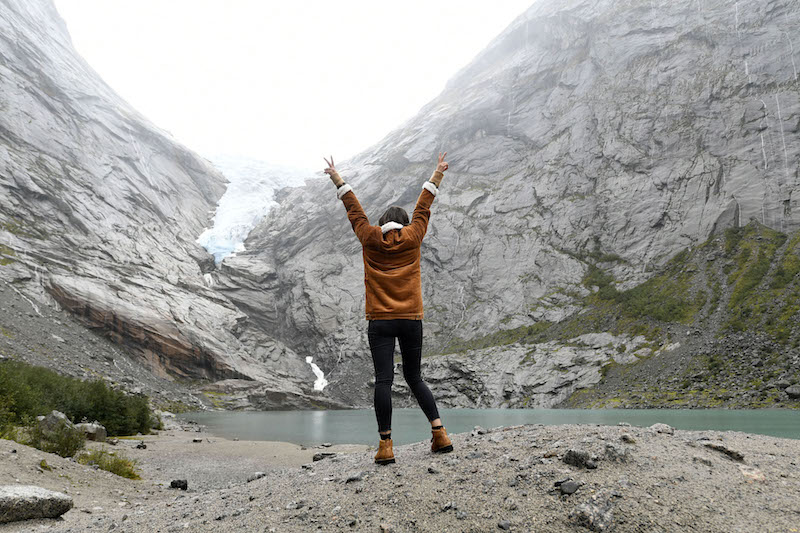 Visiting Briksdal Glacier