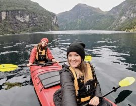 Kayaking in the Norwegian fjords