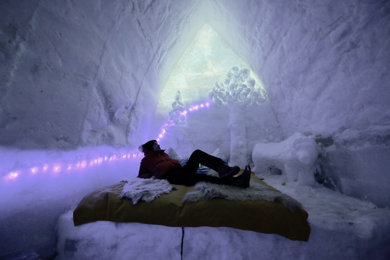 What's it like to stay in an ice hotel?