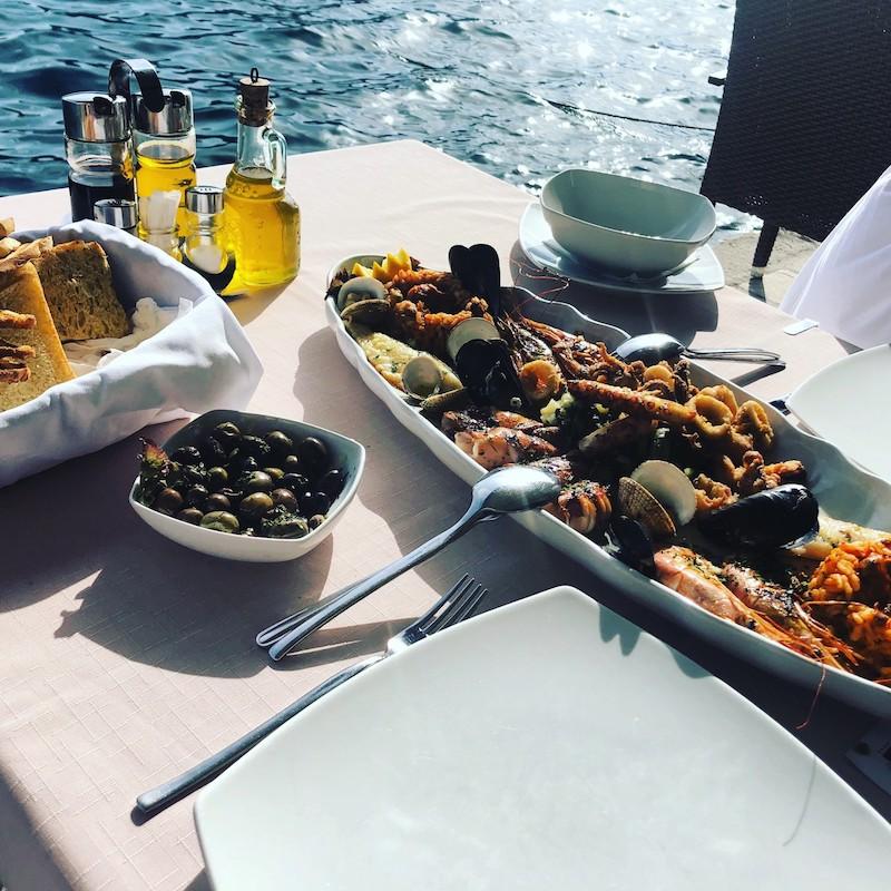 Mediterranean seafood platter