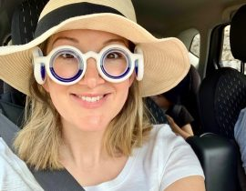 The Travel Hack reviewing Seetroen travel sickness glasses
