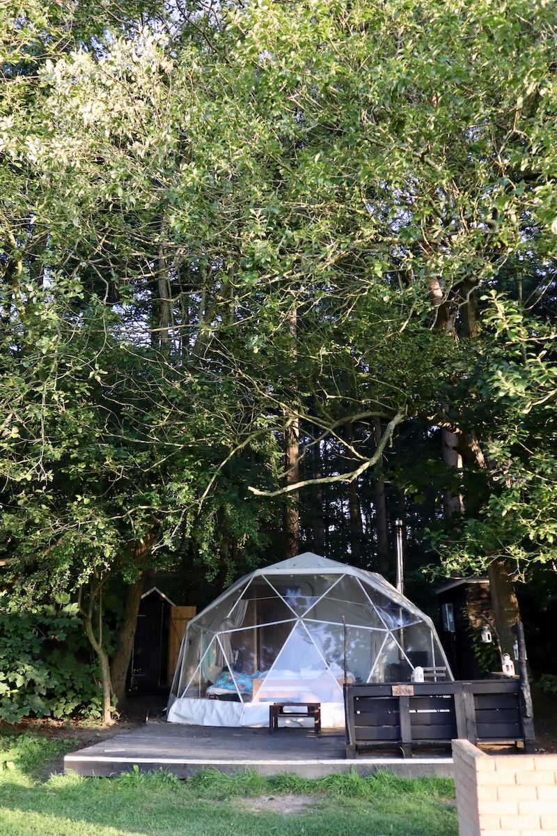 Glamping in a geodome at Camp Katur