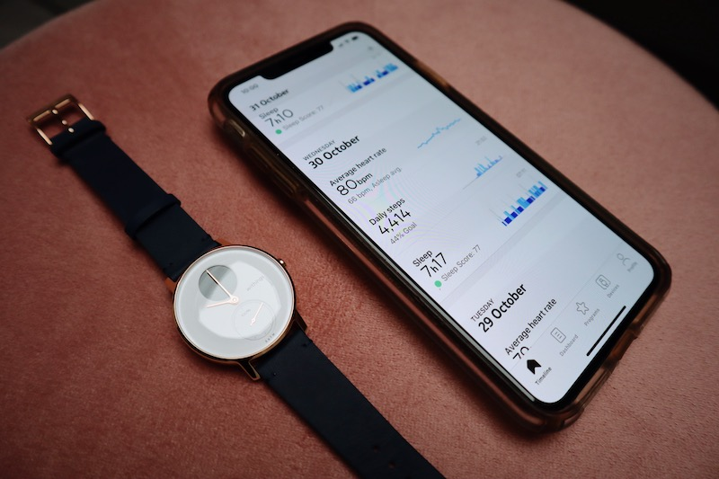 Watch with fitness tracker
