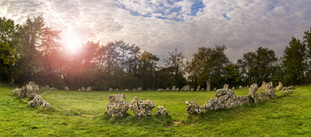 A collection of Neolithic stones near Rollright in Oxfordshire