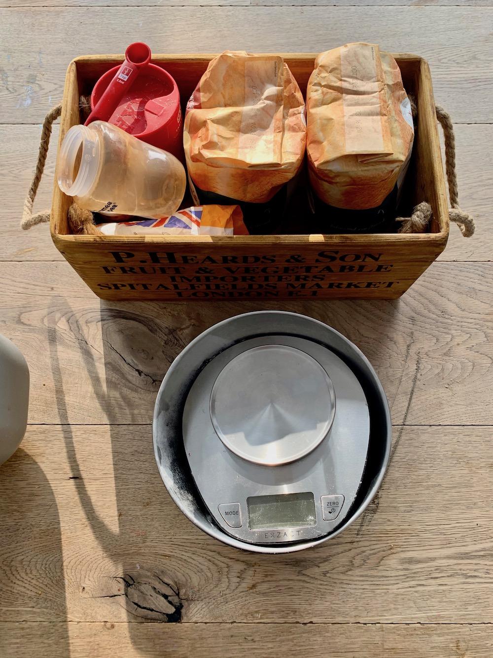 Recipe for bread in a bread maker