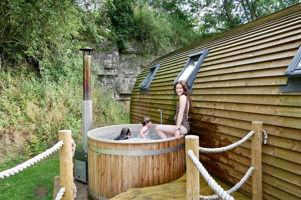 Hot tub at Wigwam Holidays  forcett Grange