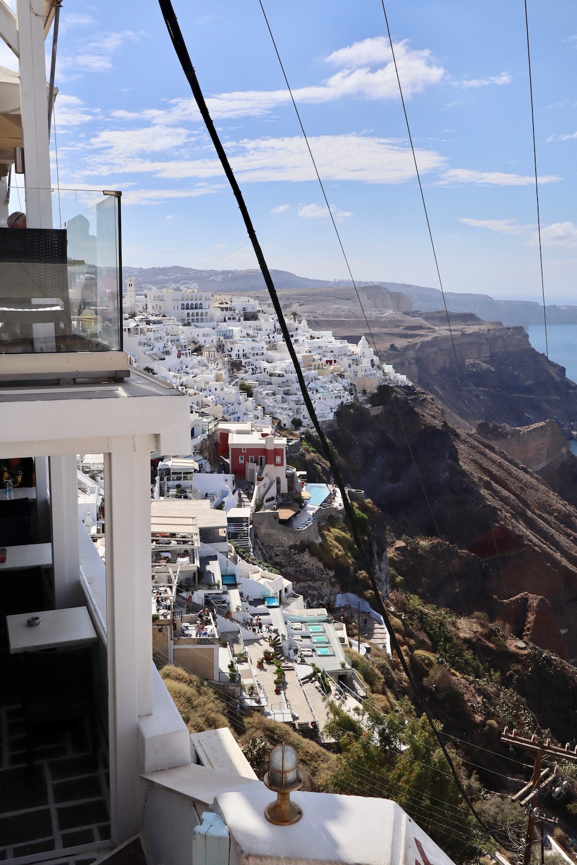 Thera cable car in Santorini